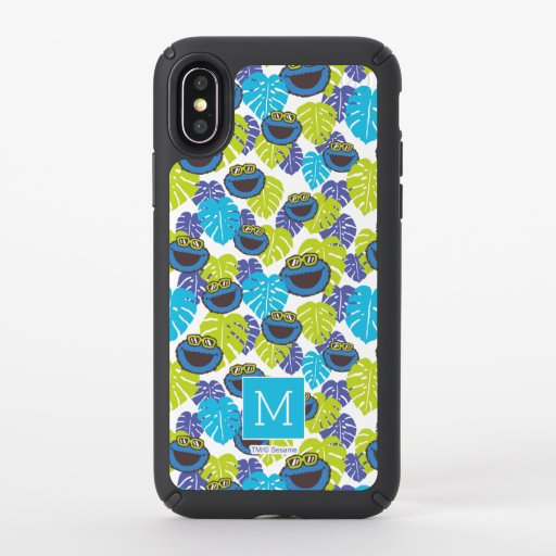 Cookie Monster | Tropical Pattern Speck iPhone X Case