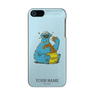Cookie Monster Vintage | Add Your Name Metallic Phone Case For iPhone SE/5/5s