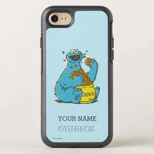 Cookie Monster Vintage | Add Your Name OtterBox Symmetry iPhone SE/8/7 Case