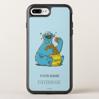 Cookie Monster Vintage | Add Your Name OtterBox Symmetry iPhone 7 Plus Case