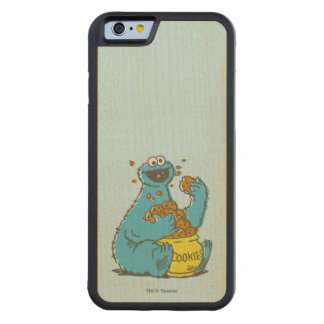 Cookie Monster Vintage Carved Maple iPhone 6 Bumper Case