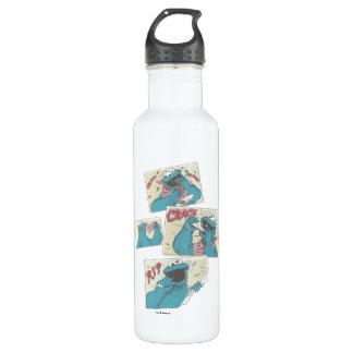 Cookie Monster | Vintage Comic Panels Water Bottle