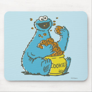 Cookie Monster Vintage Mouse Pad