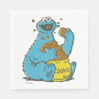 Cookie Monster Vintage Napkin