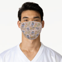 Cookie Monster Wanted Pattern Adult Cloth Face Mask
