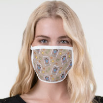 Cookie Monster Wanted Pattern Face Mask