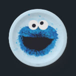 "Cookie Monster | Watercolor Trend Paper Plate<br><div class=""desc"">This trendy watercolor graphic features Sesame Street&#39;s,  Cookie Monster.  &#169;  2014 Sesame Workshop. www.sesamestreet.org</div>"