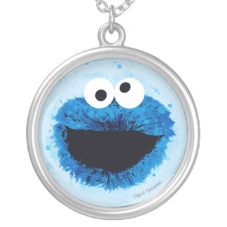 Cookie Monster | Watercolor Trend Silver Plated Necklace