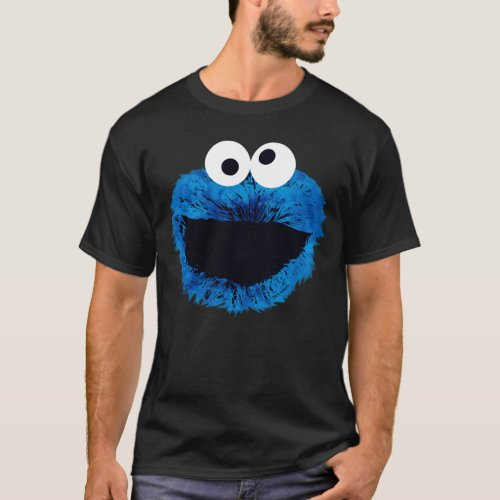 Cookie Monster  Watercolor Trend T_Shirt