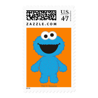 Cookie Monster Wool Style Postage Stamp