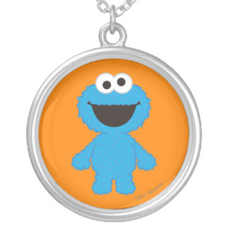Cookie Monster Wool Style Silver Plated Necklace