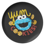 Cookie Monster Yum Party Plates