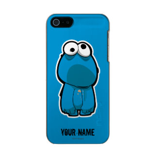 Cookie Monster Zombie | Add Your Name Metallic iPhone SE/5/5s Case