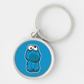 Cookie Monster Zombie Keychain