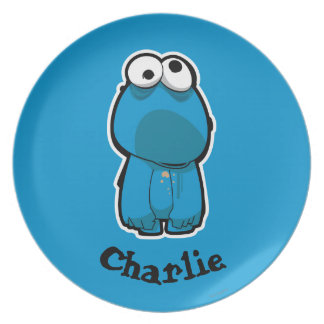 Cookie Monster Zombie Dinner Plates