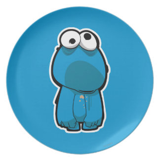 Cookie Monster Zombie Plates