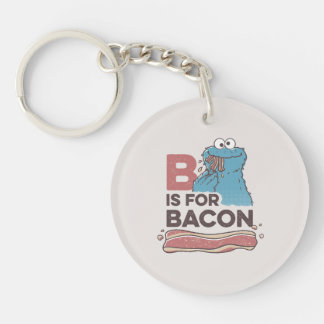 Cookie MonsterB is for Bacon Keychain