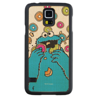 Cookie MonsterDonut Destroyer Carved® Maple Galaxy S5 Slim Case
