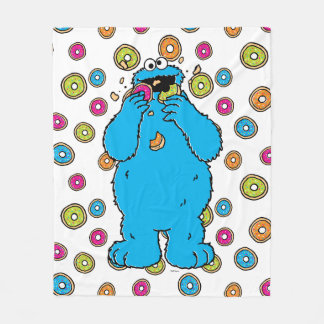 Cookie MonsterDonut Destroyer Fleece Blanket