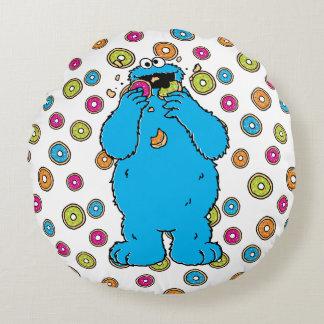 Cookie MonsterDonut Destroyer Round Pillow