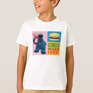 Cookie Monster's Foodie Truck | Gonger Make Food T-Shirt