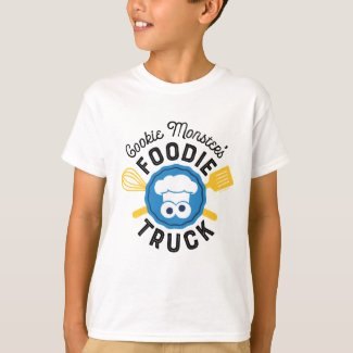 Cookie Monster's Foodie Truck Logo T-Shirt