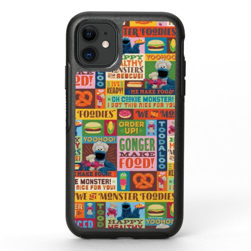 Cookie Monster's Foodie Truck Pattern OtterBox Symmetry iPhone 11 Case