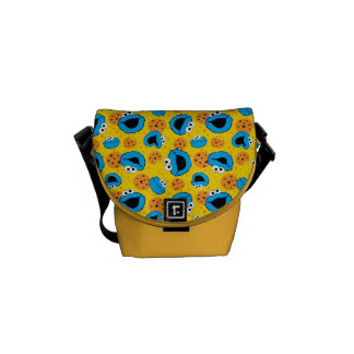 Cookie Monter and Cookies Pattern Messenger Bags