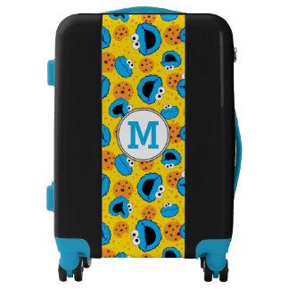 Cookie Monter and Cookies Pattern | Monogram Luggage