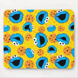 Cookie Monter and Cookies Pattern Mouse Pad