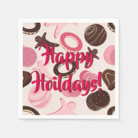 Cookie Party Fun Happy Holidays! Paper Napkin