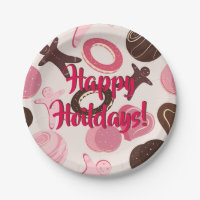 Cookie Party Fun Happy Holidays! Paper Plate