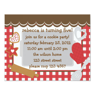 Cookie Party!. Personalized Announcements