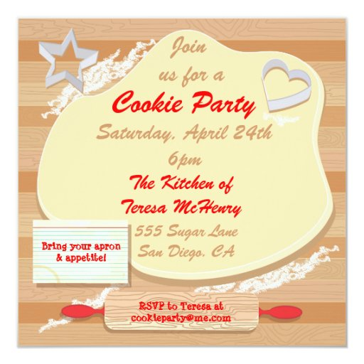 Cookie party invitation