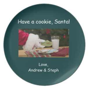 Cookies For Santa Plates | Zazzle