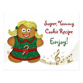 Cookie Recipe Card for Holiday Cookie Exchange