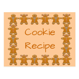 Cookie Recipe~Gingerbread~Customize Postcard