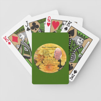 Cookie Recipe on Green Playing Cards