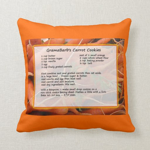 Cookie Recipe Pillow