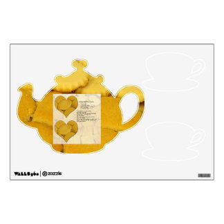 Cookie Recipe Teapot Wall Decal