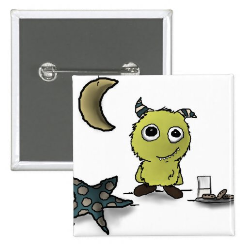 Cookie-Security Monster Art 2 Inch Square Button