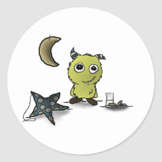 Cookie-Security Monster Art Classic Round Sticker