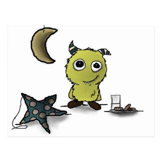 Cookie-Security Monster Art Postcard