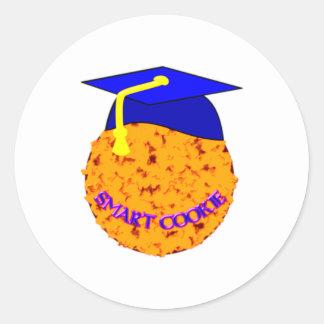 cookie smart pegatina redonda