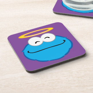 Cookie Smiling Face with Halo Drink Coaster