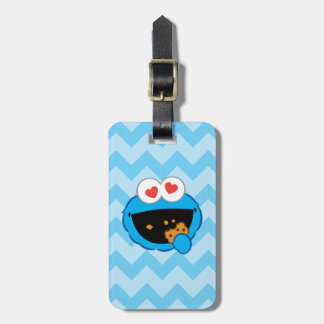 Cookie Smiling Face with Heart-Shaped Eyes Bag Tag