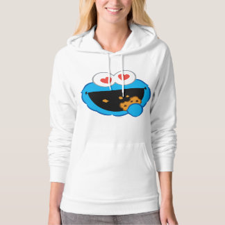 Cookie Smiling Face with Heart-Shaped Eyes Hoodie