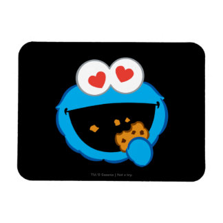 Cookie Smiling Face with Heart-Shaped Eyes Magnet