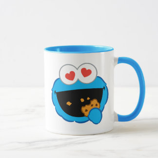 Cookie Smiling Face with Heart-Shaped Eyes Mug