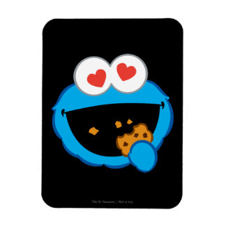 Cookie Smiling Face with Heart-Shaped Eyes Rectangular Photo Magnet
